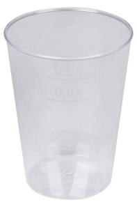 Nálevka panák plast 0,05l 40 ks