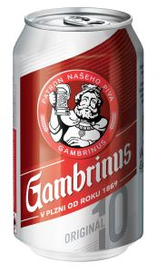 Gambrinus Originál 10, plechovka 0,33l
