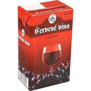 cervene vino 1l tetrapack